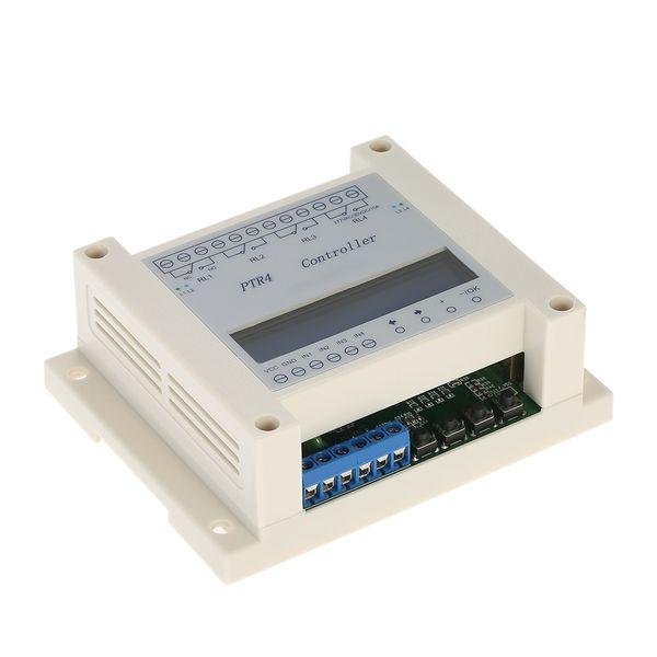Freeshipping LCD DC6-40V 4-Canal 99 Pasos Programable Digital Time Relé Módulo Temporizador Controlador Retardo Módulo Válvula de solenoide de control