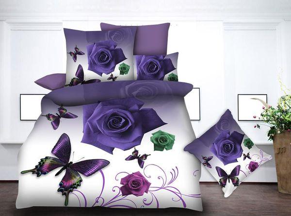 BEST.WENSD 100% Superfine fiber jacquard duvet cover set 3d Rose flower Wedding bed sheets and pillowcases bedding set luxury