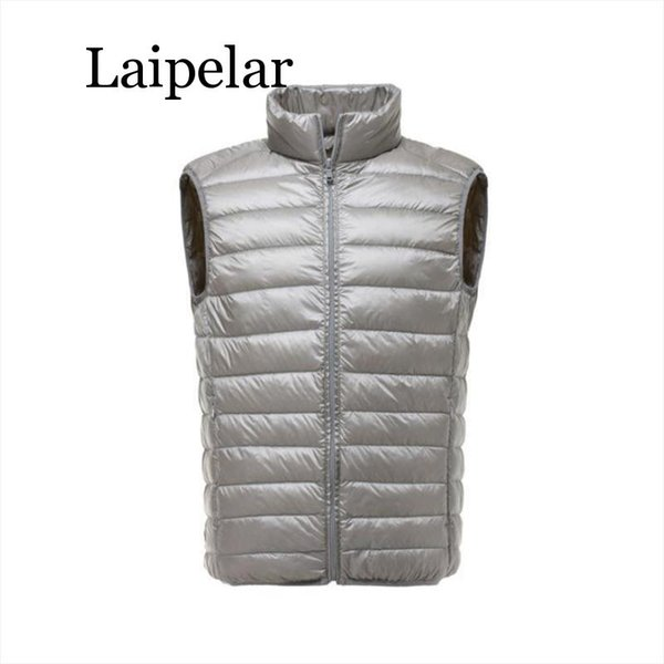 Laipelar 2019 New Arrival Men Sleeveless Jacket Winter Ultralight White Duck Down Vest Male Slim Vest Mens Windproof Warm Waistc