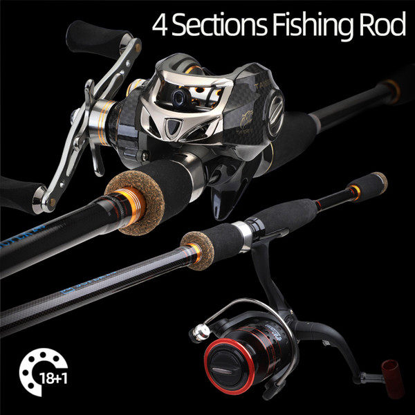 Fishing Pole Rod Carbon Fibers Tip Lure Ultralight Stick Spinning Casting Wood