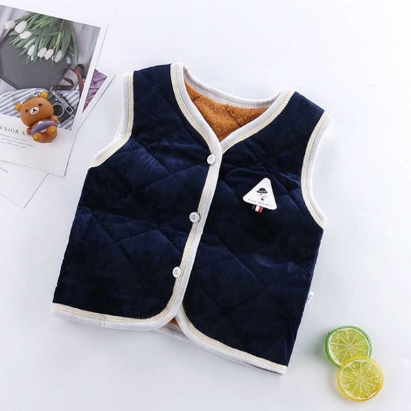 good quality children boys autumn winter vest kids cotton casual tops for baby boys girls child 2019 new clothing