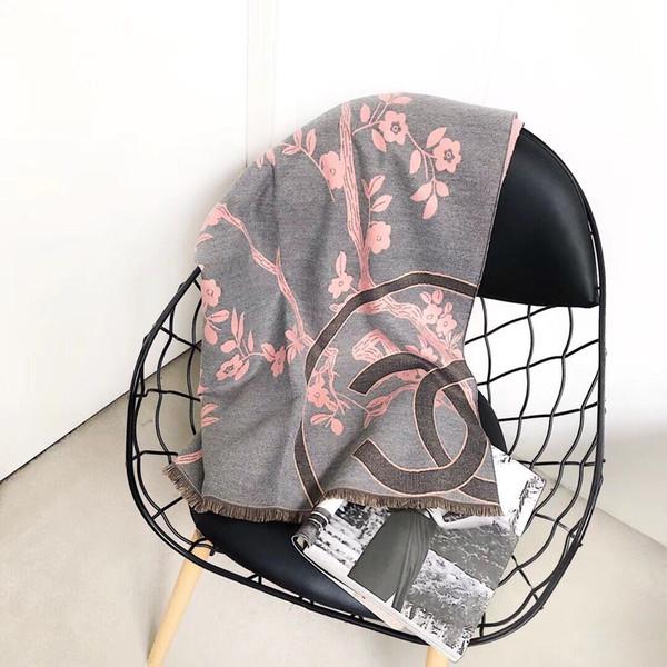 2019 Новый кашемир шарф зима осень роскошь случайные классический теплый шарф платок бренд дизайнер щедр стильный кашемир шаль 180 * 70 см