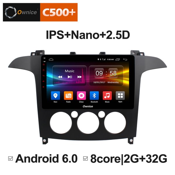 """9"""" 2.5D Nano IPS Screen Android Octa Core/4G LTE Car Media Player With GPS RDS Radio/Bluetooth For Ford S-Max 2007 2008 (MT) #5856"""