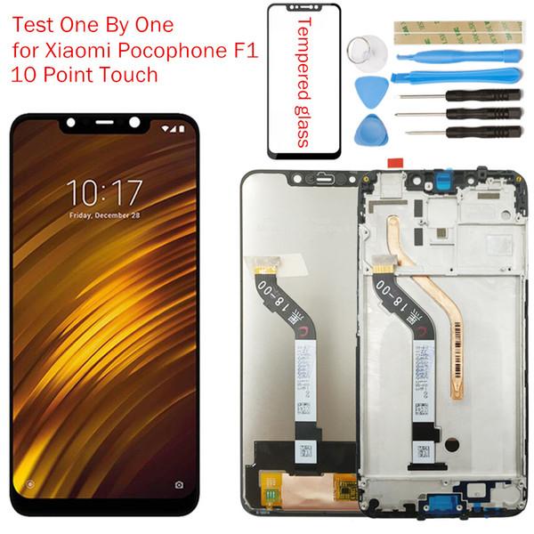 Pour Xiaomi Pocophone F1 LCD Affichage Cadre Écran Tactile Digitizer Assemblée LCD Affichage Poco F1 Inde 10 Point Touch Pièces De Réparation
