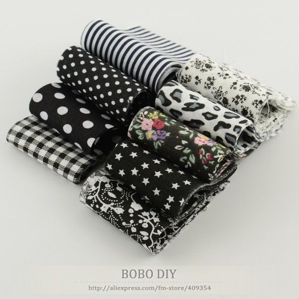 5CM*100CM jelly roll fabric strips quilting DIY quilting cloths tildas 9 pcs/ lot Cotton printed floral dot black sets