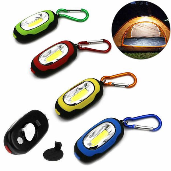 all'aperto 2019 torcia elettrica di nuovo disegno mini COB LED portachiavi portatile torcia campeggio trekking strumento luce impermeabile