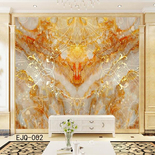 Acheter Texture Grande De Marbre Chinois 3d Abstrait De Dragon Papier Peint Peinture Murale Soie D Or Personnalité Hd Salon Maison Unique Chambre Mur