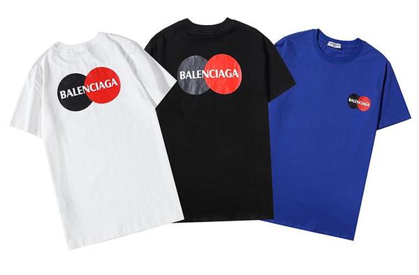 Hot sale! Summer new men's designers T-shirt hip hop trend men's and women's short sleeves