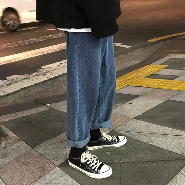 Frühlingsmänner Plus Size Jeans Mode Lässig Hip Hop Lose Vintage Männer Lose Jeans Korean Straight Harem Knöchellangen Hosen