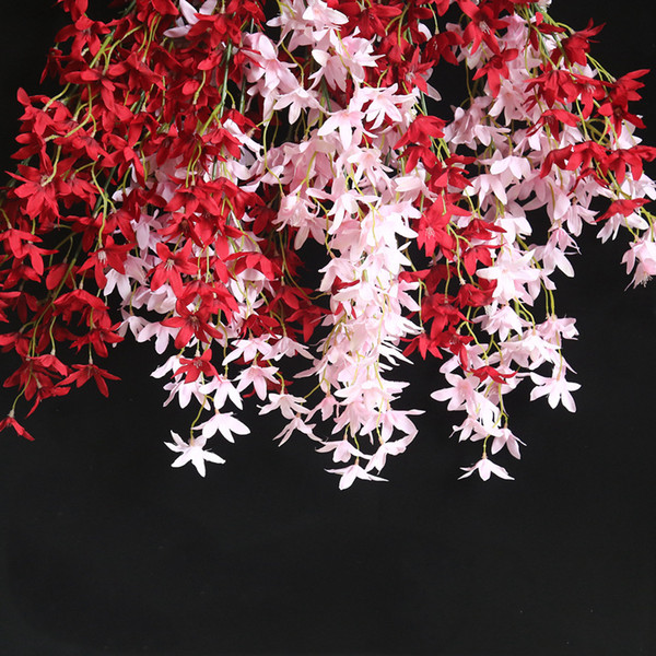4 Pcs/lot Artificial Flowers Dancing-Doll Orchid Home Decoration Fake Flowers Orchids DIY For Wedding Decor Road Lead wreath Garden wall