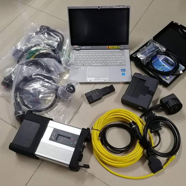 자동 진단 도구에 대한 MB 스타 C5 SD C5를 들어 BMW 아이콤 A2 V12.2019 VAS 5054A 소프트웨어에서 1TB SSD 중고 CF-AX2