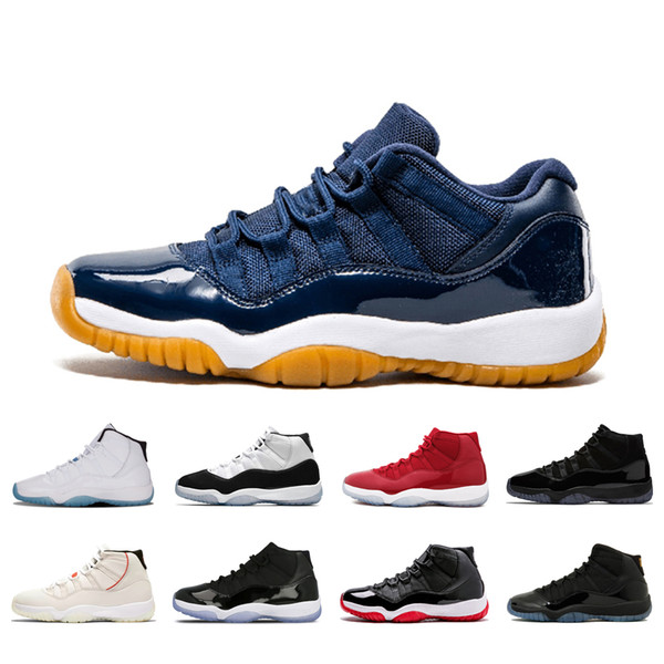 11 navy gum 11s basketball shoes classic men sneakers Concord high Bred Gamma Blue Legend Blue Prom Night sports trainers size 36-47