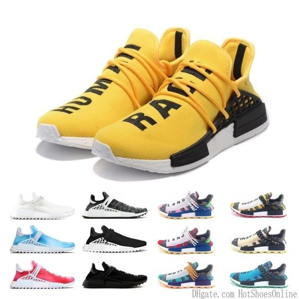 Drop Shipping Creme X Nerd Solar Pack Human Race Running Shoes Pharrell Williams Hu Trail Cream Core Black Equality Trainers Mens Sneaker