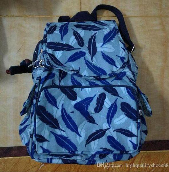 Men madam Ultralight stripe zipper waterproof Nylon monkey star PRINTED Multicolor pocket backpack City Pack in common use Pack K-P12147-3