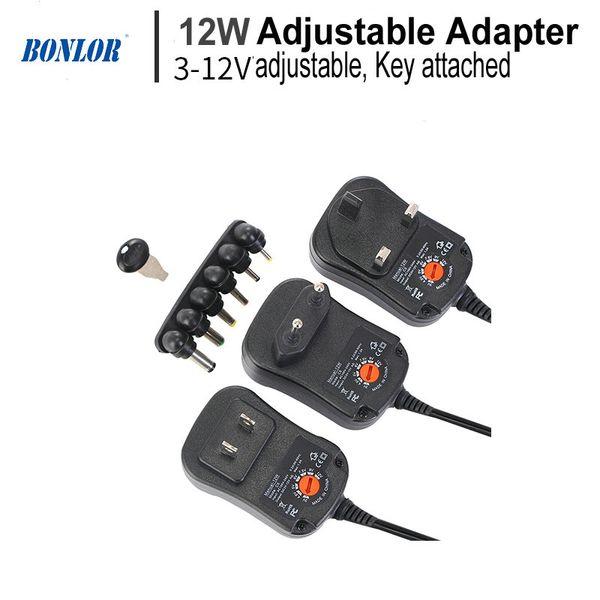 12 Вт AC/DC адаптер регулируемый адаптер питания 3 В 4.5 В 5 в 6 в 7.5 в 9 в 12 В 2A 2.5 A Универсальное зарядное устройство для CCTV камеры маршрутизатор