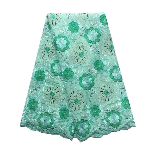 Swiss Latest African Laces 2018 Aqua Peach Rhinestone Nigerian Men Cotton African Lace Fabric Swiss Voile Lace High Quality