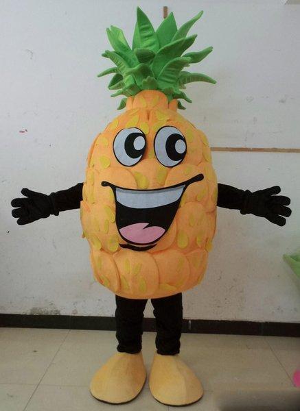 2018 Yüksek kaliteli dev mutlu yüz meyve satılık ananas maskot kostümleri