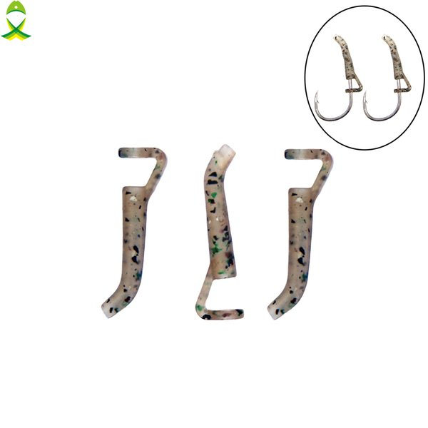 Fishing Lures JSM 30pcs/lot Fishing Hook Sleeve Tube Hair Rig Aligner Sleeves Soft Anti Tangle Positioner Terminal Tackle Carp Accessories