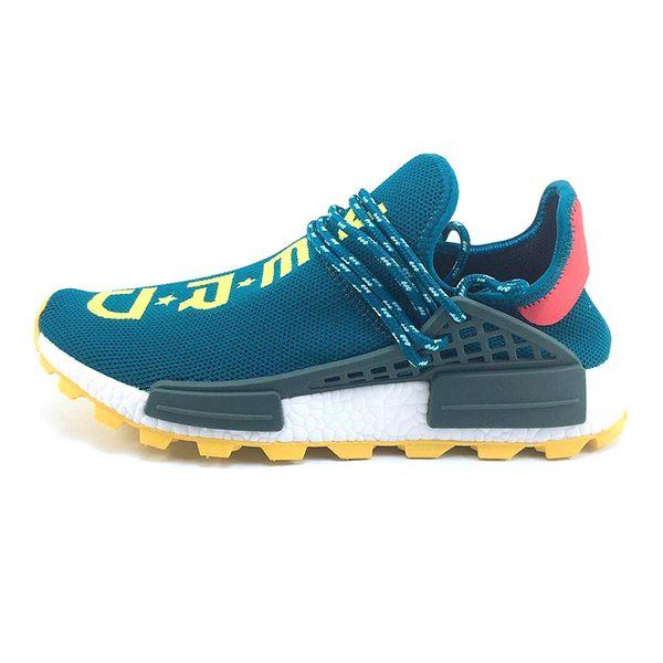 Cheap NMD Human Race Running fashion Shoes Men Women Pharrell Williams HU Runner Yellow Black White Red Green Grey Blue Sport Sneaker Size