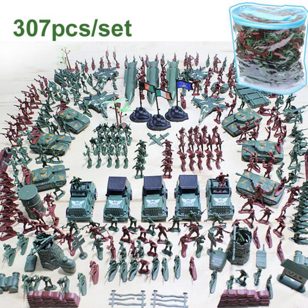 Military Plastic Soldiers Army Toy Model for Boy Action Figures Decor Play set Model Toys For Children Christmas gift 307pcs/lot