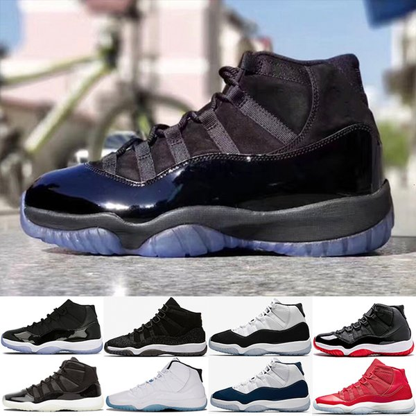 11 Una noche para morir por mayor mujeres de los hombres zapatos de baloncesto 11s gamma espacio azul atasco de PRM heredera gimnasio rojo criado Sport zapatillas de deporte nos 5,5-13
