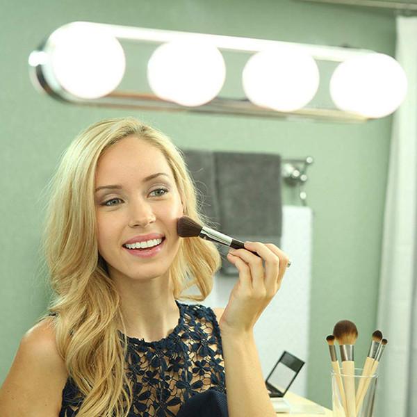 Studio Glow Maquillage Éclairage Super Bright 4 LED Ampoules Kit Miroir Cosmétique Portable Lumière de Maquillage Alimenté par Batterie