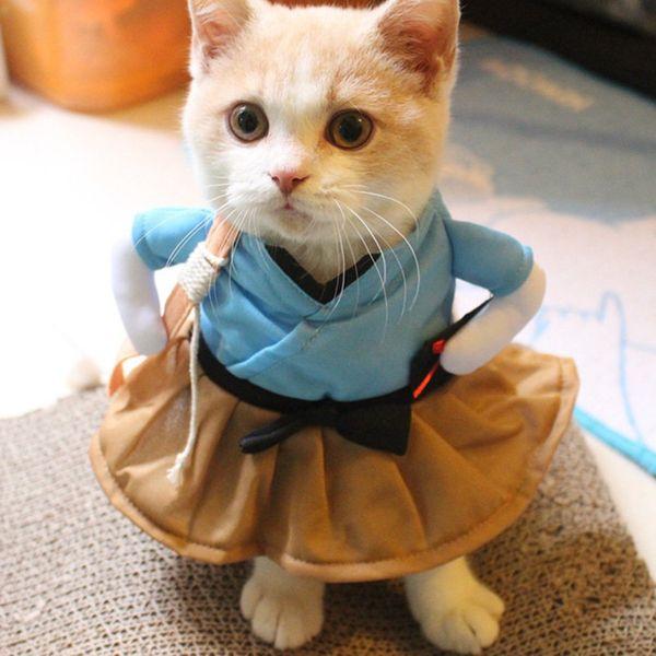 Vestiti uniformi del vestito del costume del vestito del vestito da costume di Cat Dog del costume divertente del vestito