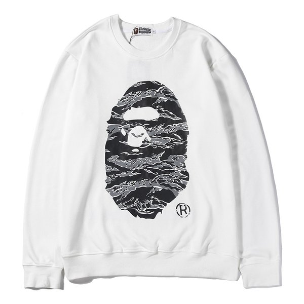 BAPE Hoodie Hip Hop A Bathing Ape Designer Hoodie Jacket Men Women High Quality Black White Casual Sweatshirts