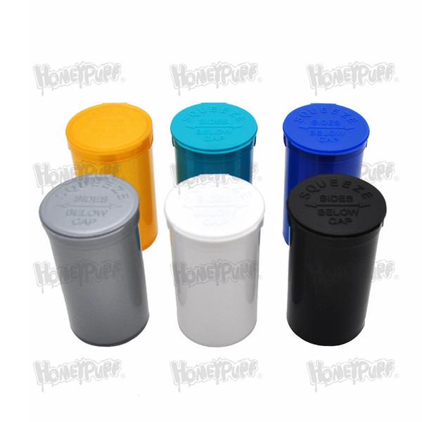 19 Dram Empty Squeeze Pop Top Bottle Caja de hierbas secas Caja de píldoras Caja Contenedores de hierbas Caja de almacenamiento hermética Accesorios para fumar Frasco de escondite