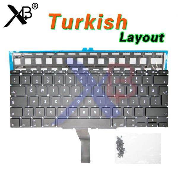 TR teclado turco Turquía / retroiluminación retroiluminada + 100 piezas tornillos de teclado para MacBook Air 11.6