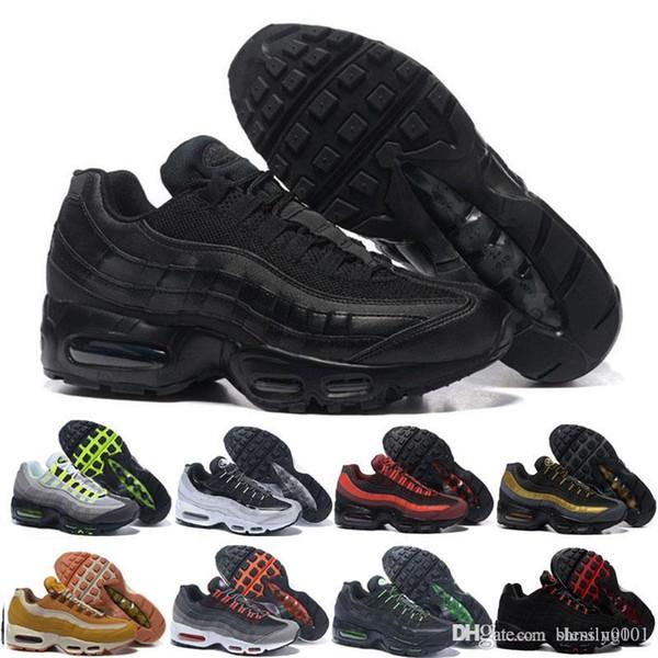 Compre Nike Air Max 95 Airmax 2018 20th Running Shoes Hombre Mujer Cojín Zapatillas De Deporte Botas Auténtico M Premium Neon Cool Grey Caminando