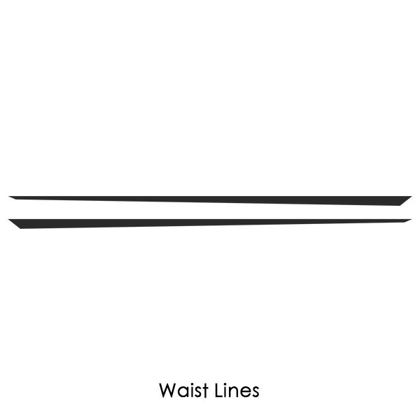 2 pieces Waist Lines