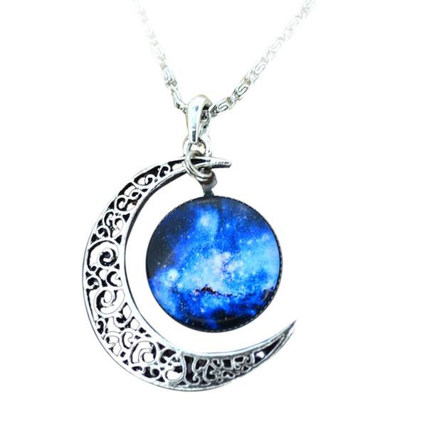 Fancinating Antique Vintage Necklace Moon Time Collana Maglione catena pendente gioielli Classico Choker Torque unico Torque