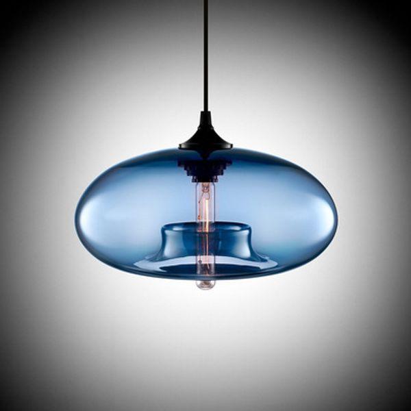 Industria Colgante de la vendimia transparente de las luces pendiente de cristal de la lámpara E27 / E26 LED CA 110-240V / Edison / T10 Bombillas Estudio Hanglamp