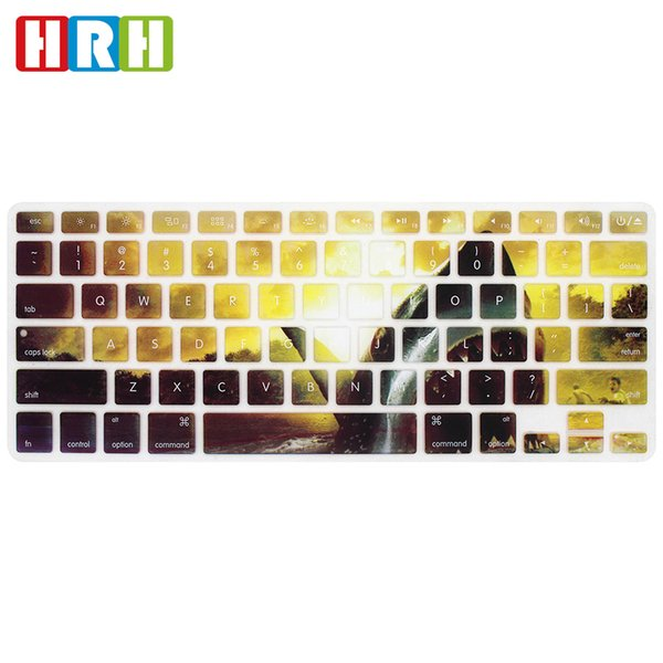 HRH Animal Silicone English Keyboard Cover Keypad Skin Protective Film For Macbook Air Pro Retina 13 15 17 US Version