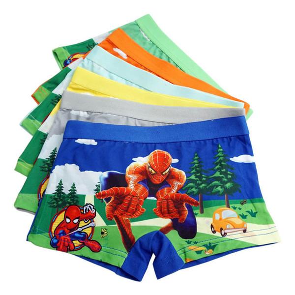 top popular New Children Underwear Boys Underwear boys Cotton Boxers Cartoon Boy Boxer Briefs Kids Briefs boy Panties Children Underpants A3044 2019