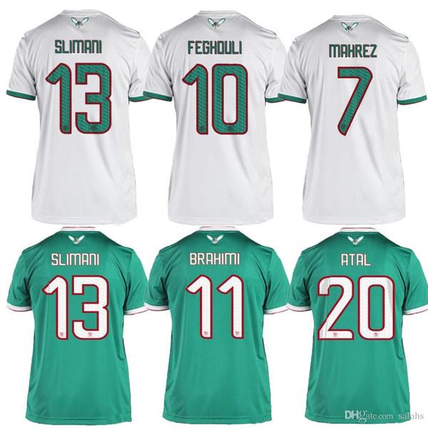 QUALIDADE SUPERIOR 2019 África Copa Argélia camisas de futebol MAHREZ FEGHOULI ATAL BRAHIMI DELORT BENNACER camisa de futebol 19 20 Argélia maillot de pé