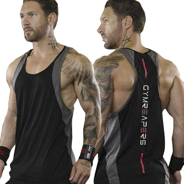 Mens Casual Fitness Jogger Tank Tops For Male Summer Sweat Absorption Sleeveless Gymnasium Sports Muscle T-Shirts Vests