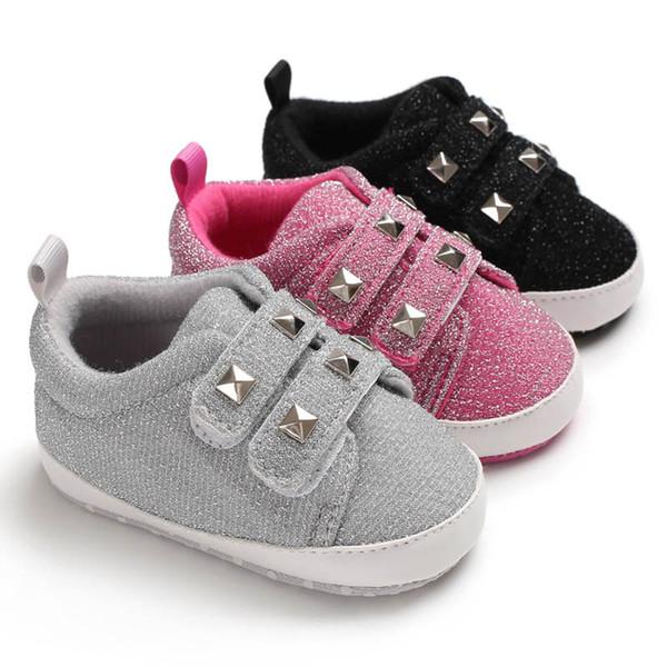 vente chaude en ligne 891c1 ee91e Acheter Nouveau Arrivé 0 1 An Bébé Chaussures Scintillant Bambin Chaussures  Casual Chaussures Pour Bébés Mocassins Soft Baby First Walker Shoe ...