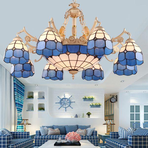 Modern Led Chandeliers Lighting Glass Suspended Lamps Luxury Deco Fixtures Living Room Pendant Luminaires Bedroom Hanging Lights Ceiling Lights & Fans