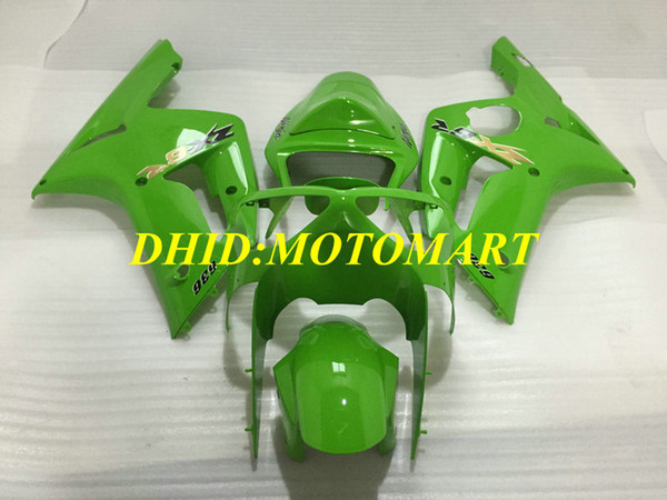 Kit de carenado del molde de inyección para KAWASAKI NINJA ZX 6R 600CC 03 04 ZX6R 636 2003 2004 Green Fairings set ZX41