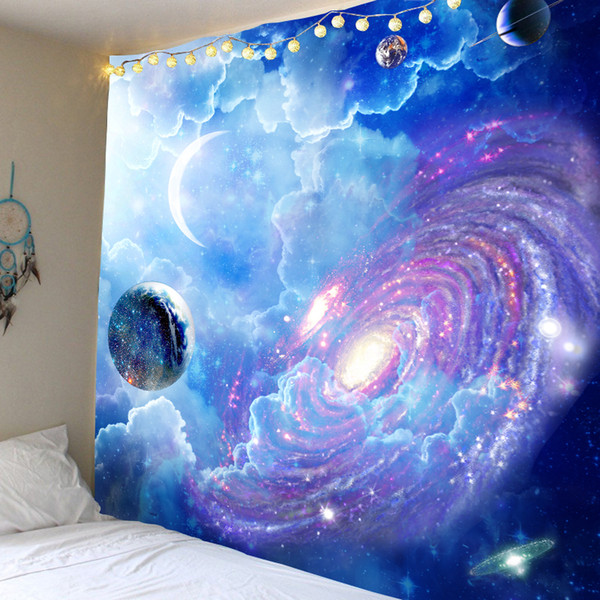 Cosmic Starry sky Decor Psychedelic Tapestry Wall Hanging Indian Mandala Tapestry Hippie Tapestry Boho Wall Cloth