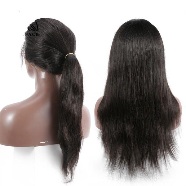 Perruque perruque de densité 180 de cheveux humains péruviens frontaux de dentelle de Remy 360 pour la couleur naturelle des femmes noires
