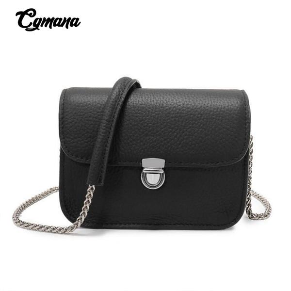 Couro de couro Bag 2019 Mulheres Couro Mini Cadeia Bag Ladies Messenger Ombro Bandoleira Sacos Mulheres Designer de Luxo