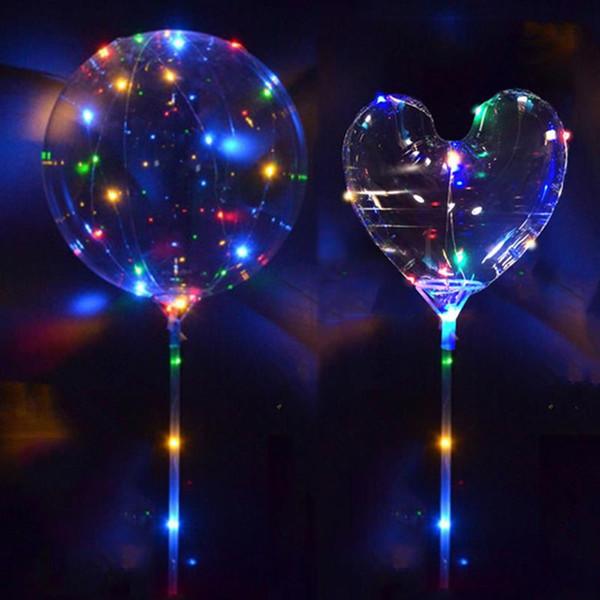 1pcs DEL Ballons Clair String Lights Hélium Mariage Anniversaire Décorations de fête
