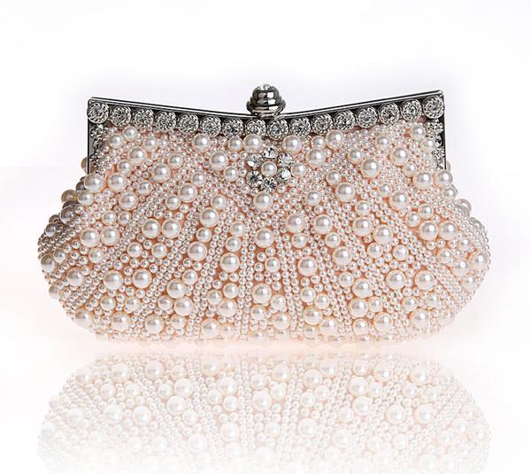 Jaron Evening Bags Women Clutch Bags Evening Clutch Wedding Bridal Handbag Pearl Beaded Fashion Rhinestone