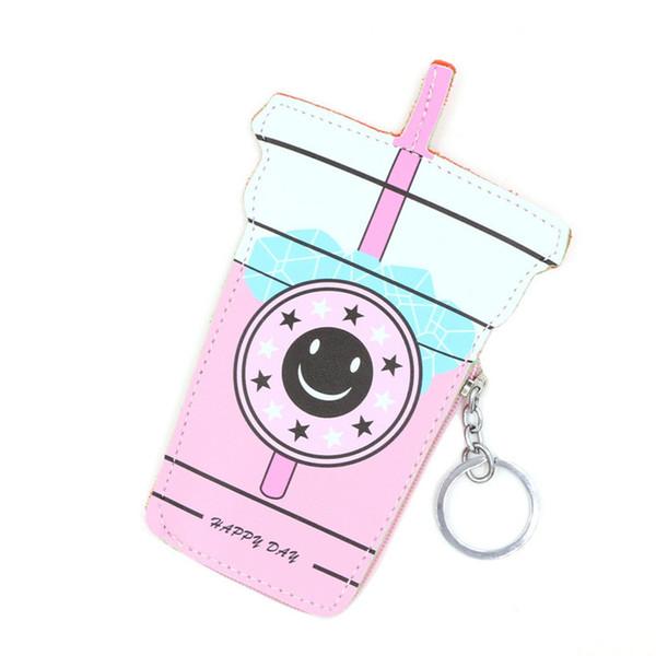Cartoon Women Coin Purses Holders And Handbags Cute Icecream Bottle Leather Pouch Kawaii Children Wallet Small Keys Bag Carteira