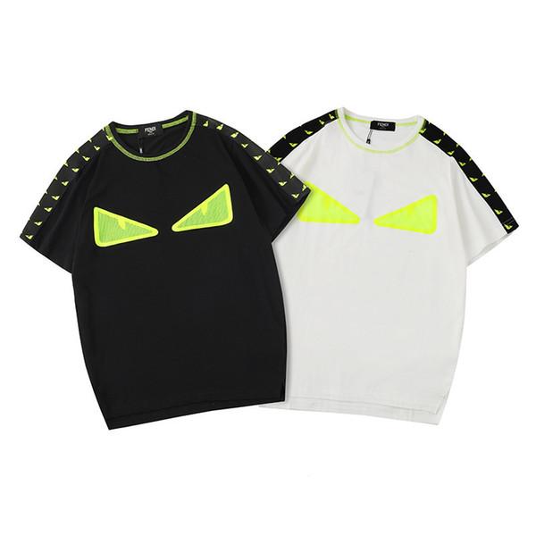 Mens Designer Tshirt D'été Top Shirt De Mode De La Mode Yeux Imprimé Designer De Mens Tee Shirts Marque Tops De Luxe T-shirt Taille S-XXL