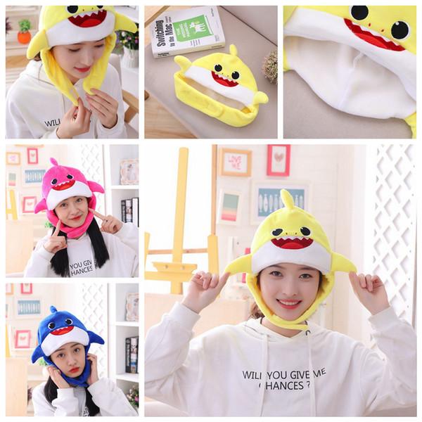 3styles Baby shark plush hat caps cartoon toys hat Newsboy Hats kids girl winter headwear party favor kids gift FFA2390