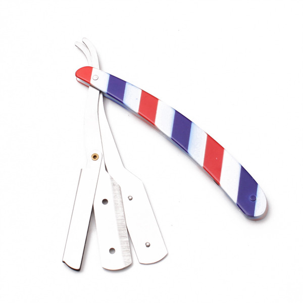 14x2cm Japanese Stainless Men Straight Salon Barber Edge Steel Razor Folding Shaving Knife Hair Removal Tools + 1Pieces Blade C6110